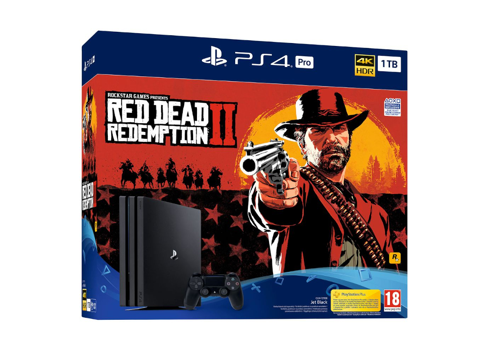 Sony PlayStation 4 Pro - 1TB & Red Dead Redemption 2