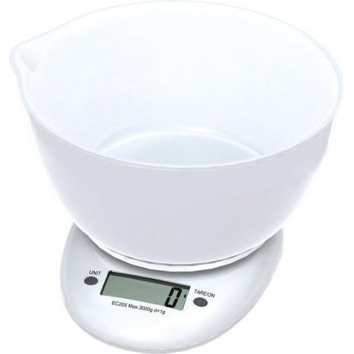 OMEGA KITCHEN SCALE WHITE WITH BOWL,st.OM43147