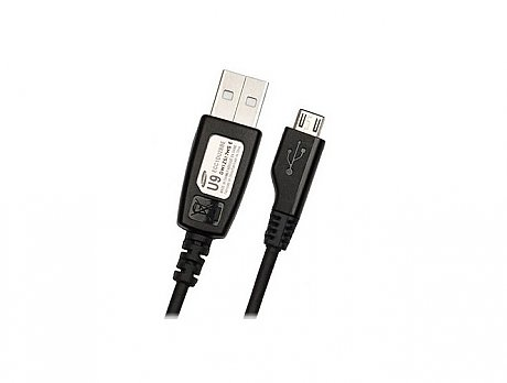 Data Cable Samsung ECC1DU0BBK micro USB 0.8m Black Bulk