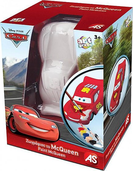As Company Αrt Greco Disney Cars - Plaster 3D Paint McQueen