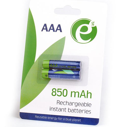 ENERGENIE READY TO USE RECHARGEABLE BATTERIES AAA 850MAH 2PCS/PACK,st.EG-BA-AAA8R-01