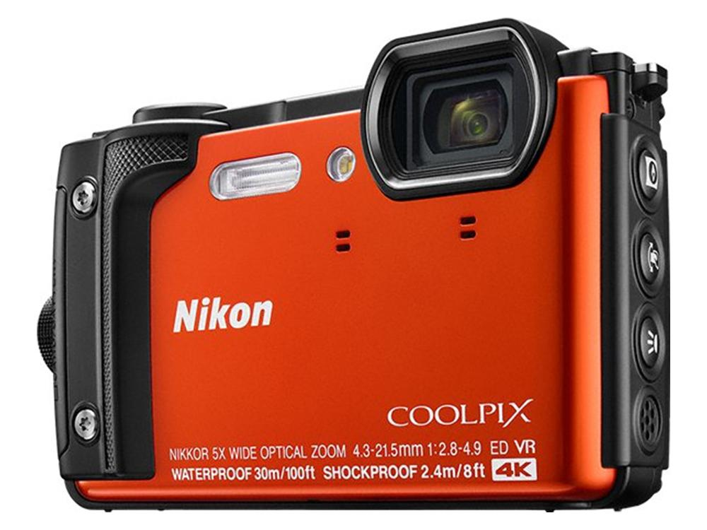 Φωτ. Μηχανή Nikon Coolpix W300 Orange Holiday Kit, 10.CAMNIK00077