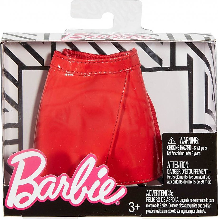 Mattel Barbie Bottom Fashion Doll Outfit - Black and Silver Stars Skirt (FXH92),enx.051526