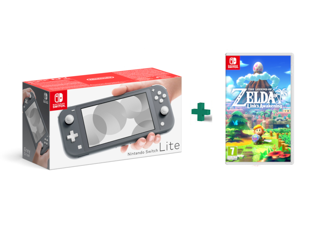 Nintendo Switch Lite Grey - Κονσόλα Nintendo & The Legend of Zelda: Link's Awakening,pub.1421534