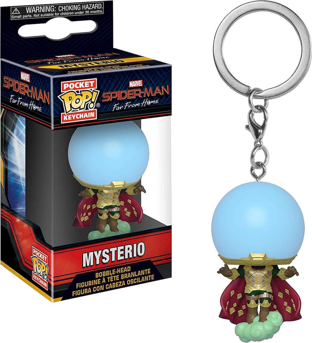 Funko Pocket POP! Spider-Man Far From Home - Mysterio  Bubble-Head Figure Keychain