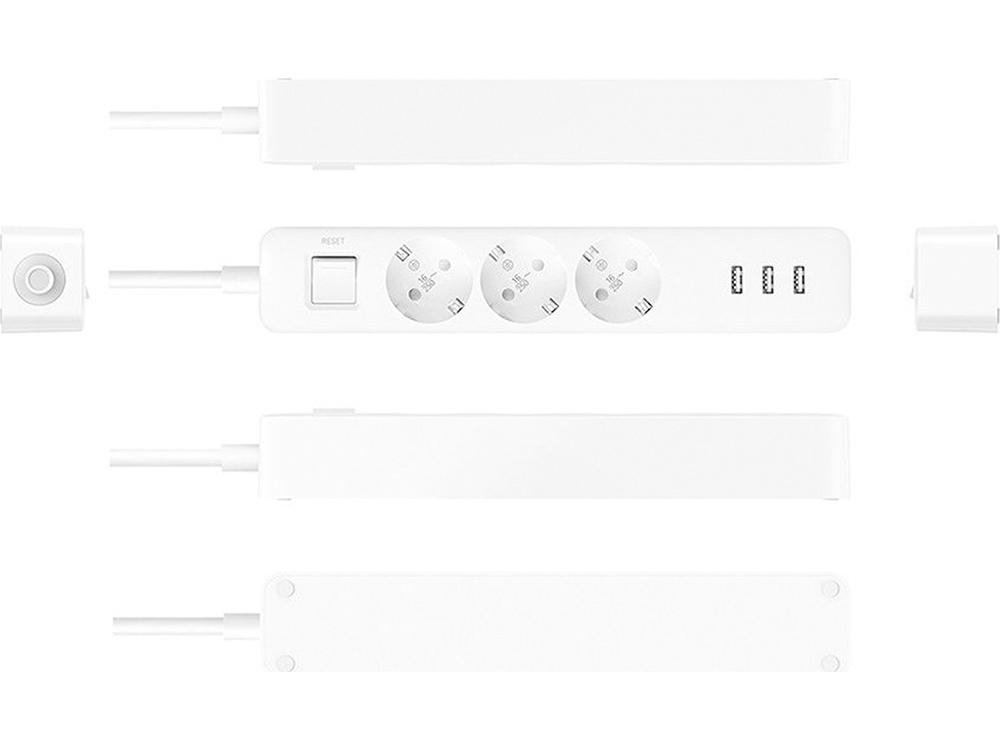 Πολύπριζο 3 θέσεων + 3 usb Xiaomi Mi Power Strip White, 10.ACSXIA00341