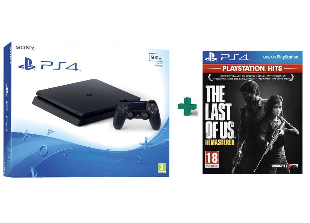 Sony PlayStation 4 - 500GB Slim D Chassis & The Last of Us Remastered PlayStation Hits