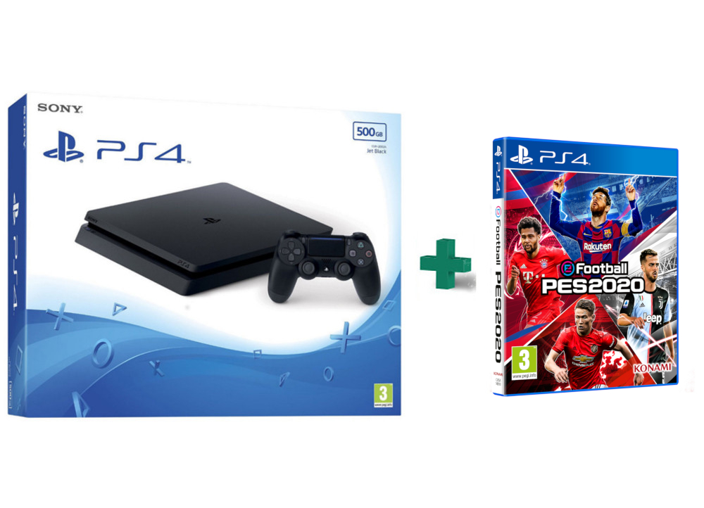 Sony PlayStation 4 - 500GB Slim F Chassis & eFootball Pro Evolution Soccer 2020 - PS4 Game,pub.1419328