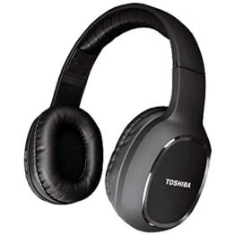 TOSHIBA AUDIO BLUETOOTH SPORT RUBBER COATED STEREO HEADPHONE BLACK,st.RZE-BT160H-BLK